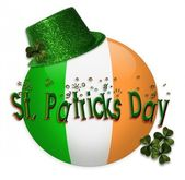St patricks dag pictogram glinsterende clip art — Stockfoto