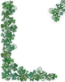 St. Patricks Day Shamrocks border — Stock Photo