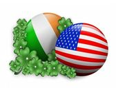 St. Pattys day Irish American icon — Stock Photo