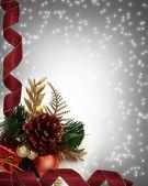 クリスマスの国境のコーナ設計 — ストック写真