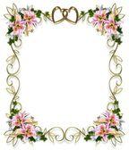 Lilies Floral Wedding Invitation — Stock Photo