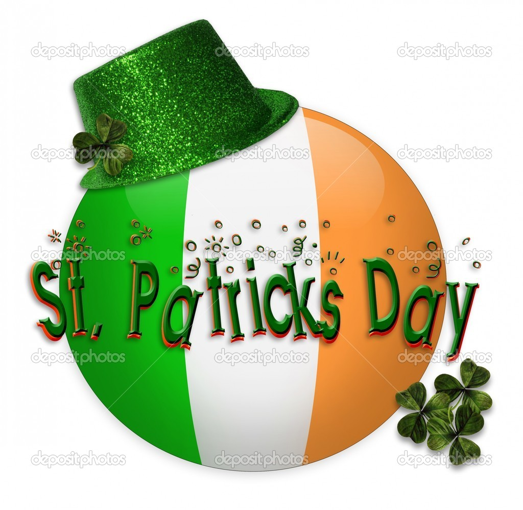depositphotos 2075139 St Patricks Day icon clip art American Flag as background for Clip Art Illustration for your design.