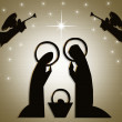 Christmas Abstract Nativity Scene — Stock Photo