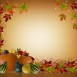 Thanksgiving herfst achtergrond grens — Stockfoto