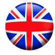 Flag of England United Kingdom  button - Stock Photo