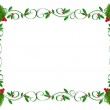 Christmas Holly Grenze ornamentalen — Stockfoto #2088598