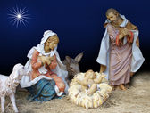 Nativity Christmas Scene Religious — Stock Photo
