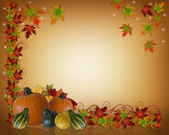 Thanksgiving Autumn Background Border — Stock Photo