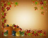 Thanksgiving Autumn Background Border — Stock Photo