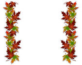 Autumn Fall Leaves Border — Stock Photo
