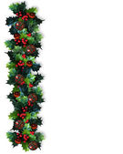 Christmas Border Holly Garland — Stock Photo