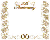 Wedding Anniversary invitation 50 years — Stock Photo