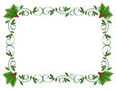 Christmas Holly Border ornamental — Stock Photo