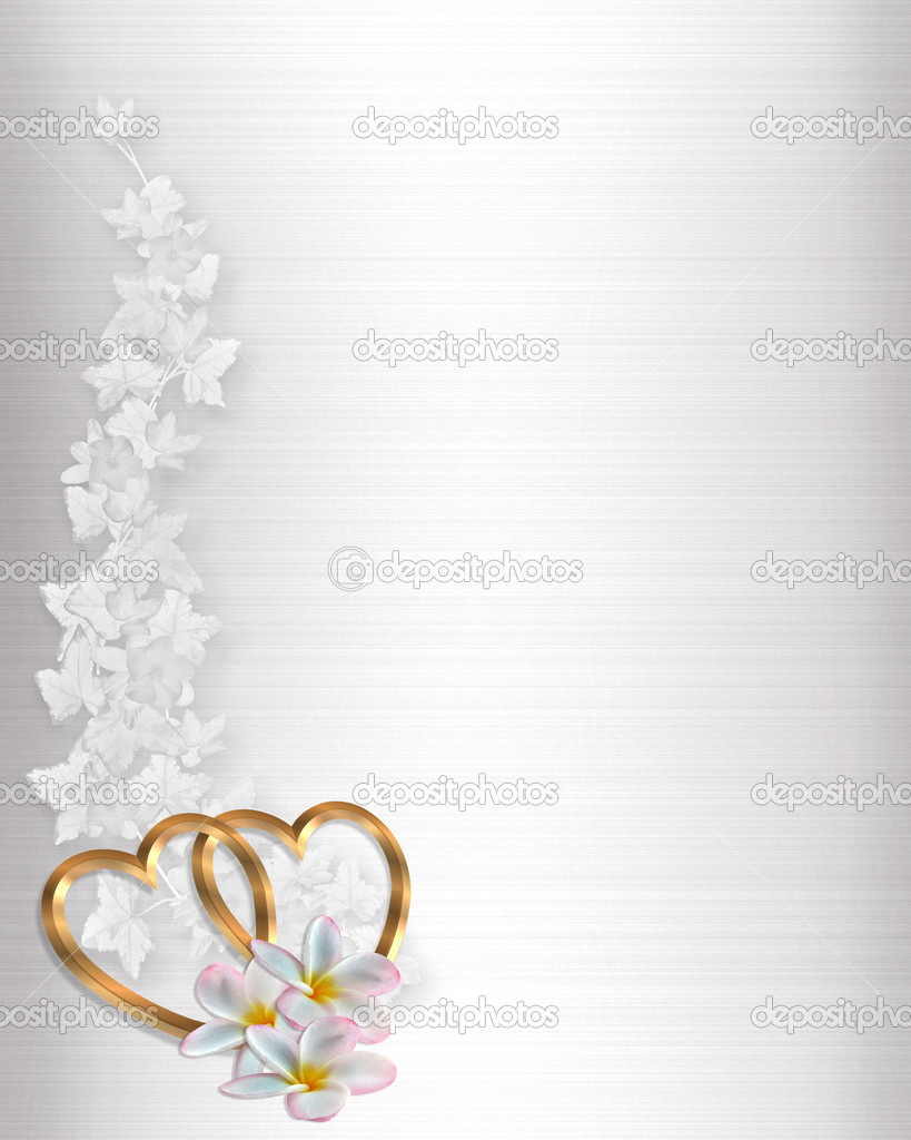 3D Illustrated Gold Hearts and flowers design element on white satin for Valentine, wedding invitation background, border or frame with copy space. — Stock Photo #2088086
