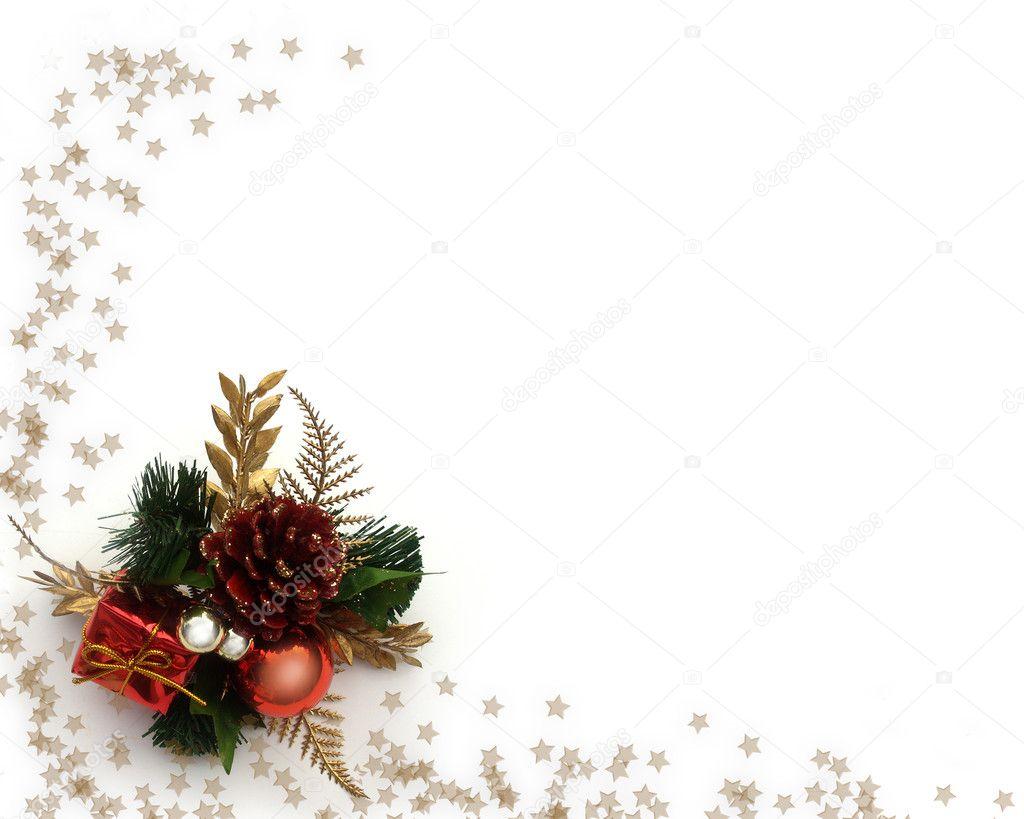 Christmas Decoration Border Design Stock Photo