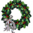 Christmas Holly Wreath — Stock Photo