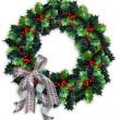 Noel holly çelenk — Stok fotoğraf
