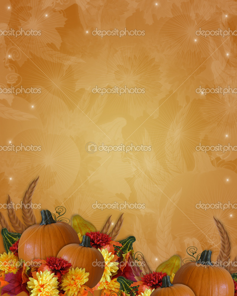 Image and Illustration composition for Autumn, fall, Thanksgiving invitation, border or background with copy space. — Stock Photo #2090313