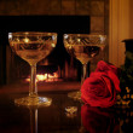 Romantic still life engagement — Stock Photo