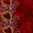 Valentines Day Hearts Border — Stock Photo