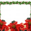 Christmas Holly border illustration — Stock Photo