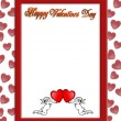 Valentines day border with 3D text — Stock fotografie
