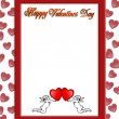 Stock Photo: Valentines day border with 3D text