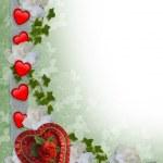 Valentines Day Border Hearts — Stock Photo