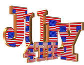 4th of July 3D text — Stock Photo