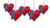 July 4Th ,Valentine Hearts border — Stock Photo