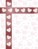 Valentines Day Border Hearts — Stock Photo