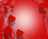 Valentines Day Background Hearts — Stock Photo