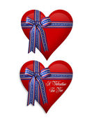 Valentine or July 4Th Hearts — Stock Photo