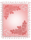 Pink Roses Wedding Invitation — Stock Photo