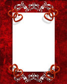 Valentines Day Hearts Border — Stock fotografie