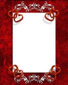 Valentýn srdce hranice — Stock fotografie
