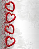 Valentines Day Hearts Border — Stock Photo