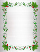 Christmas Holly Border ornamental — Stock Photo