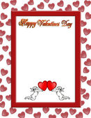 Valentines day border with 3D text — Stock Photo
