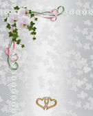 Wedding Invitation elegant orchids — Stock Photo
