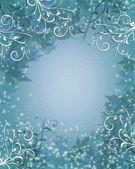 рождественский фон зимний искриться голубой — Стоковое фото