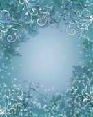 クリスマス背景冬輝き青 — ストック写真