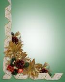 Noel sınır şeritler zarif altın po — Stok fotoğraf