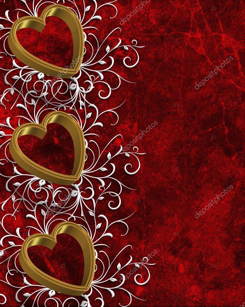 Valentines Day Hearts Border — Stock Photo © Irisangel #2125935