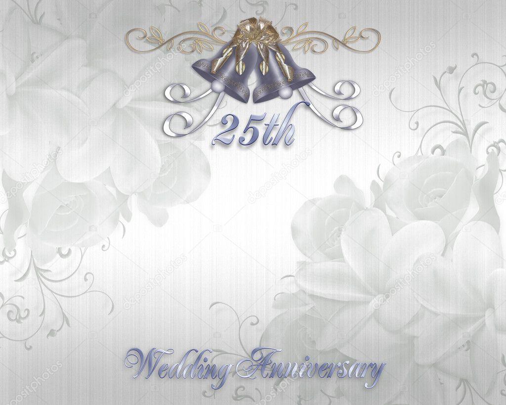 25th Wedding Anniversary Invitation — Stock Photo © Irisangel #2126430