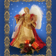 Christmas angel greeting card — Stock Photo