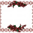 Christmas Holiday Border holly berries — Stock Photo #2130472