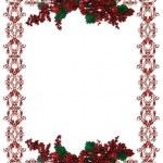 Christmas Holiday Border holly berries — Stock Photo