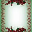 Christmas Holiday Border holly berries — Stock Photo #2130504