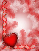 Valentine background heart — Stock Photo